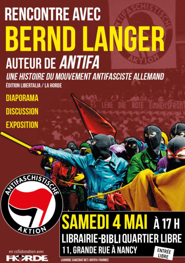 Affiche 4 mai antifa Bernd Langer