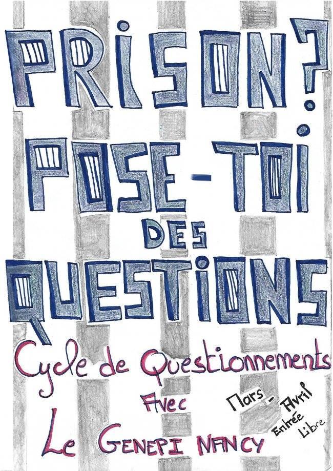 Prison - Pose-toi des questions - affiche