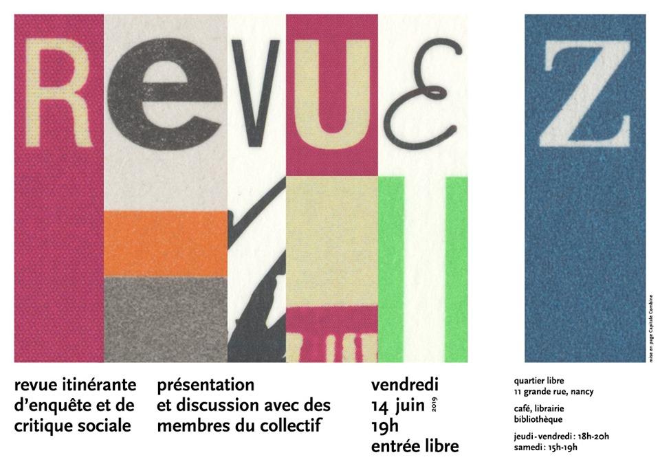 revue Z et Mauvaises Mines affiche